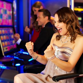 Woman-Enjoys-Playing-Slots